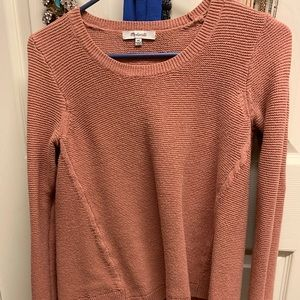 Rose colored Madewell sweater